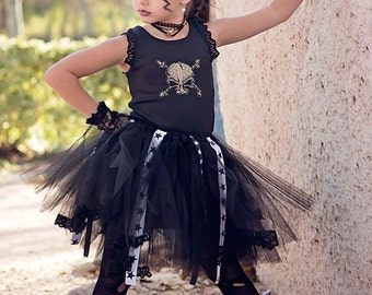 Rock n Roll Ballerina, Rock Star Tutu Dress, HALLOWEEN Punk Rock Princess,Glam Rock Girl tutu Costume,Rockstar Birthday Tutu, Rocker Tutu