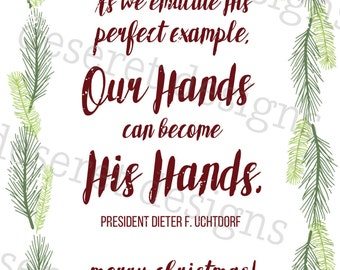 OUR hands can become HIS hands {Print}