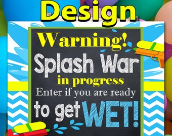 Birthday Poster. Backdrop - Printable sign - DIY Print candy buffet sign, dessert table, firefighter, fireman,