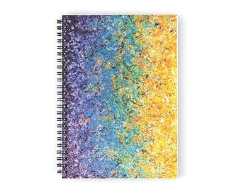 Colorful Notebook, Spiral Journal, Abstract Expressionist Notepad, Fun Ruled Journal, Artsy Journal, Memo Pad, Writing Pad, Lined Journal