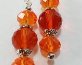 Orangs Swarovski Crystal Earrings