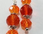 Orangs Swarovski Crystal Earrings