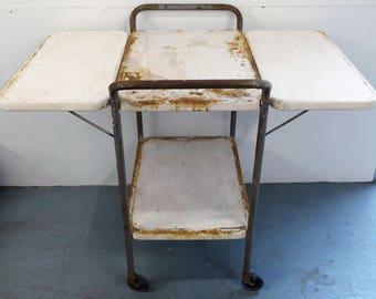 Old Rustic Industrial Metal Cart