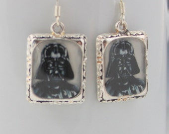 Darth Vader Star Wars Earrings Jewelry Movie 3D Dimensional