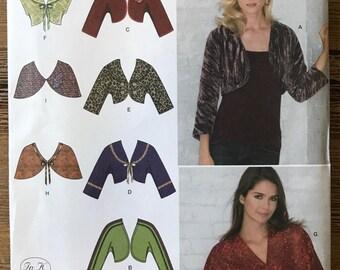 UNCUT Simplicity 3921 Cropped Jacket, Bolero, Shrug, Vest, Capelet Pattern Size 8-10-12-14-16-18-20-22-24
