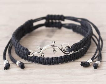 Macrame bracelet set Lizard bracelet Macrame jewelry Boyfriend gift Sister gift Friendship bracelet