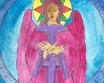 Art by Bertie - Modern Icon Guardian Angel