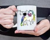 Unicorn Mug Magical Unicorn Coffee Mug Gift for Girlfriend Coffee Cup Magical As Fuck Funny Coffee Mug Mother's Day Gift for Her Wife Gift