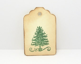 Christmas Tree Tags, Christmas Tag, Holiday Gift Tags - Christmas Gift Tags, Rustic Gift Tags, Rustic Christmas, 12