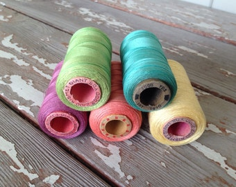 KISMET GIANT THREAD-Vintage Thread,Antique Thread,Old Thread Spools,Sewing Supplies,Sewing Room Decor,Taylor Shop Decor,Seamstress Gifts,