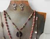 Metal Necklace Bust with Patina - Handmade from Steel - Quantities Available Ready to Ship