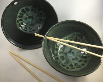 Sushi for Two, Pottery Bowls, Ceramic Bowls, Sushi Bowls, Serving Bowls, Rice Bowls, Noodle Bowls, Pottery Bowl Gift