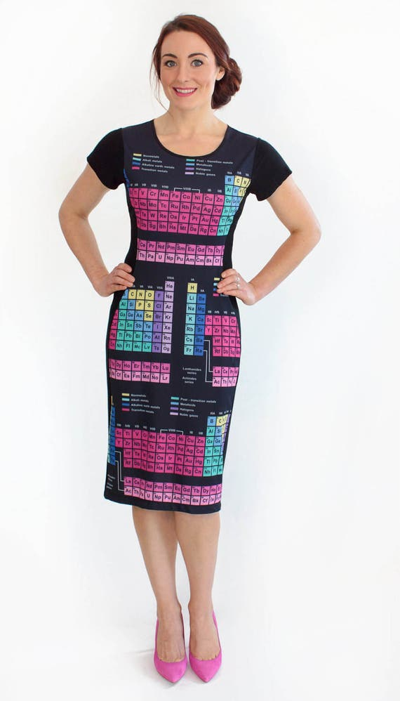 Periodic Table Dress Periodic Elements Dress Chemistry