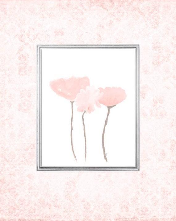 Blush Flowers Print in 8x10