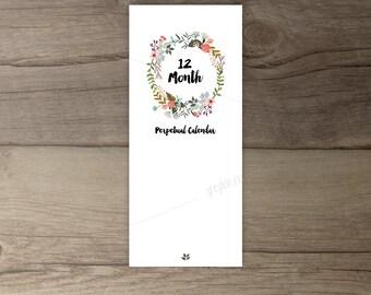 Printable Birthday Calendar •Perpetual Calendar • Floral Bouquets •Country Flowers • printable