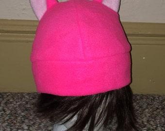 Pink Kitty Cat Fleece Hat -- Grab THIS!
