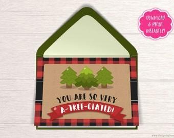 Teacher Appreciation Card - Wood Shop Teacher Card - Science Teacher - Teacher Week Gift - Card for Teacher - Lumberjack Thank You - HC03