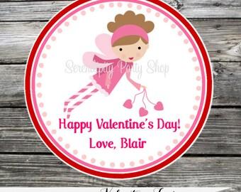 Printable Valentine Cards, Fairy Valentine's Day Cards, Classroom Cards, Valentine's Day,  Kids Valentine Cards, DIY Valentine's Cards