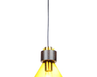 EQLight Amber Glass Pendant Industrial Collection