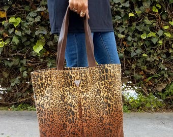 Leopard beach bag | Etsy