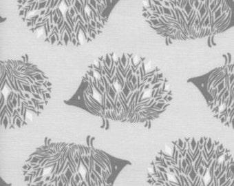 Baby Bedding Crib Bedding - Gray Hedgehog - Baby Blanket, Crib Sheet, Crib Skirt, Changing Pad Cover, Boppy Cover