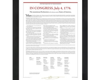 The Declaration of Independence: An 18- by 24-inch print