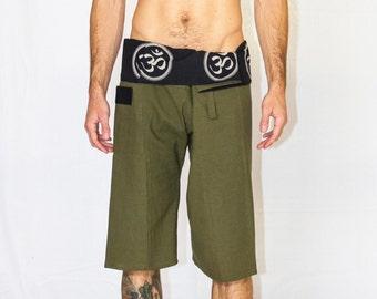 Men's Harem Pants, Thai Fisherman Pants, Sacred Geometry Clothing, Harem Pants, Men's Yoga Pants, Buddha, Festival Clothing Men, Burning Man