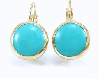 Gold Turquoise Earrings, Turquoise Drop Earrings, Turquoise, Stone Earrings Turquoise Earrings, Gemstone Dangle Earrings, Turquoise Jewelry.