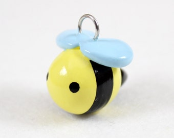 Sweet Bumblebee Charm - Polymer Clay Charm - Bee Charm - Bee Jewelry - Polymer Clay Jewelry - Cute Bumblebee - Cell Phone Charm