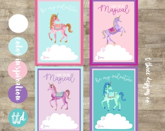 Unicorn Valentines, Printable Valentines Cards, kids valentines, child valentines cards, glitter unicorn valentine, Unicorn Kids Valentine