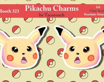 Pokemon Pikachu - Clear Acrylic Charm Keychain