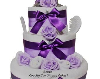 3 Tier Cute Koala Nappy Cake Baby Shower Gift