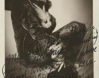 Marta Salm German actress antique hand signed rppc photo