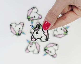 Patch interfacing Unicorn / DIY appliques and coat textile / malicious shop