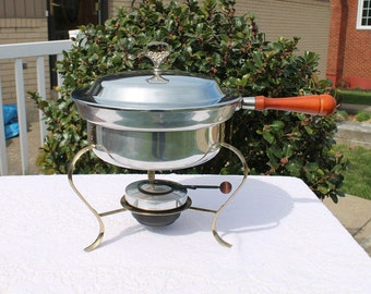 Chafing Dish Buffet Server with Warmer Pot - Four Piece Set