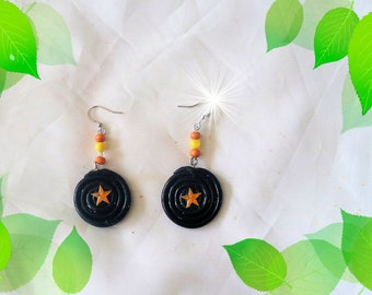 Earrings, polymer clay, Mahadev, handmade, kawaii, and candy