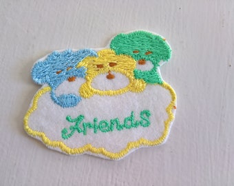 Vintage Puppy Pals Fleecey Patch --- Retro Cutie Style Sewing Quilting Craft Personalize Jean Jacket ---- Kawaii Lolita Baby Shower Friends