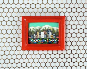LA Cityscape Painting, Original Painting, Small Framed Painting, Los Angeles Painting, Colorful Painting, LA Art, West Coast