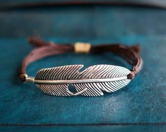 Man bracelet, feather man bracelet, gipsy feather boho bracelet, gipsy man bracelet, boho man bracelet, feather gipsy bracelet