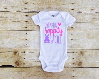 Easter Outfit, Easter Shirt, Easter Shirt for Kids, Easter Outfit Baby Girl, Hippity Hoppity, Easter Baby Outfit, First Easter, Easter Kids