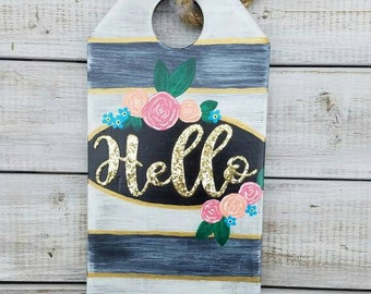 "Wood ""Hello"" Tag"