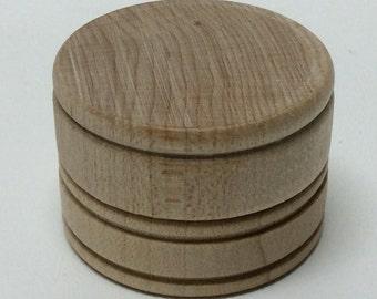 """1-9/16"""" Wooden Pill Box - Tooth Fairy Box - Unfinished Wood 1"""" Tall - Mini Pill Box - Trinket Box - DIY Pill Box - Ring Box"""