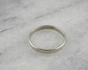 Vintage White Gold Wedding Band, White Gold Band, Vintage Gold Wedding Ring CJ6X58-R