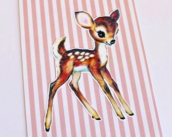 Cute Fawn Greeting Card