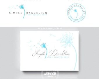 dandelion script 1  brush rose initials businesscards  simple modern feminine branding- logo Identity artist makeup wedding photographer