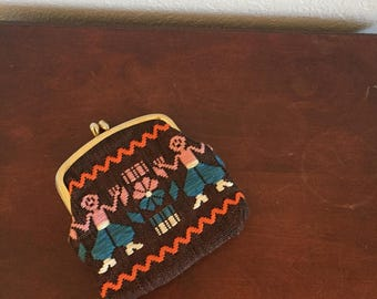 Mexican Embroidered Coin Purse