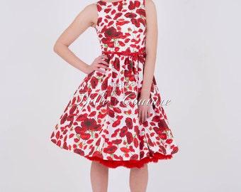 "Poppy dress ""Betty"" in the 50s style"