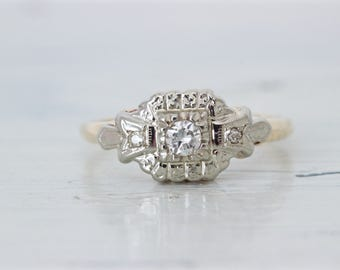 1940s engagement ring Etsy