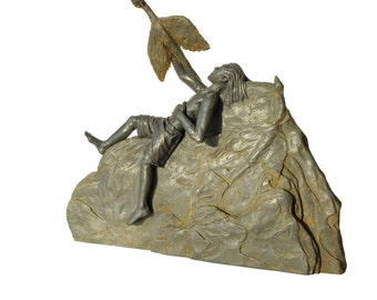 Dreamer - Original Sculpture - Cold Cast Iron
