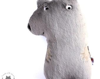 Wombat cushion soft toy soft furnishing australian australiana woodland themed nursery children's bedroom pillow plushie
